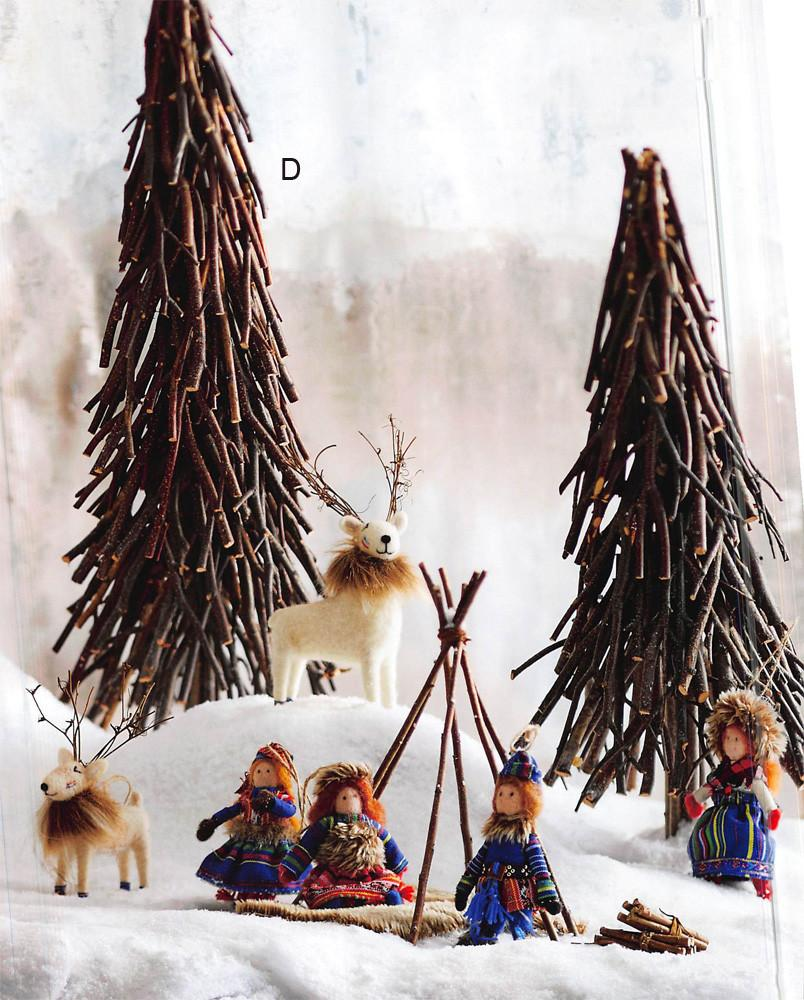 Roost Tapered Willow Trees - Set Of 3