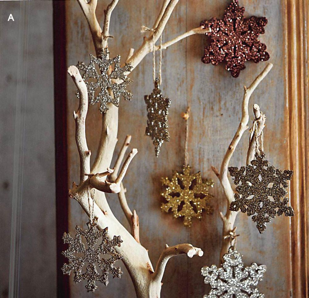 Roost Glitter Snowflake Ornaments - Set Of 12