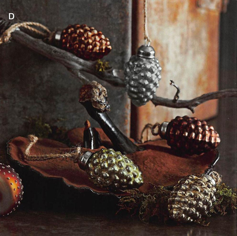 Roost Woodland Tiny Pine Cone Ornaments - Set Of 60