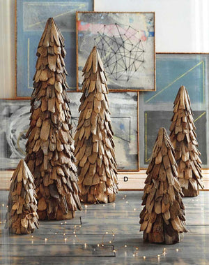 Roost Decorative Rustic Driftwood Cone Trees