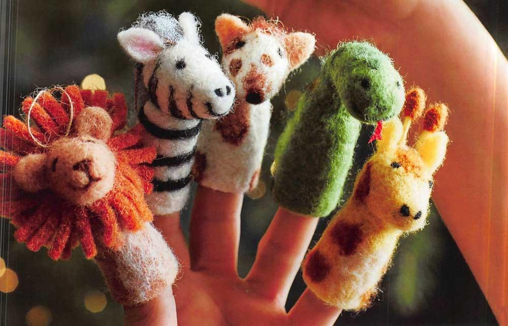 Roost Safari Finger Puppet Ornaments - Set Of 20