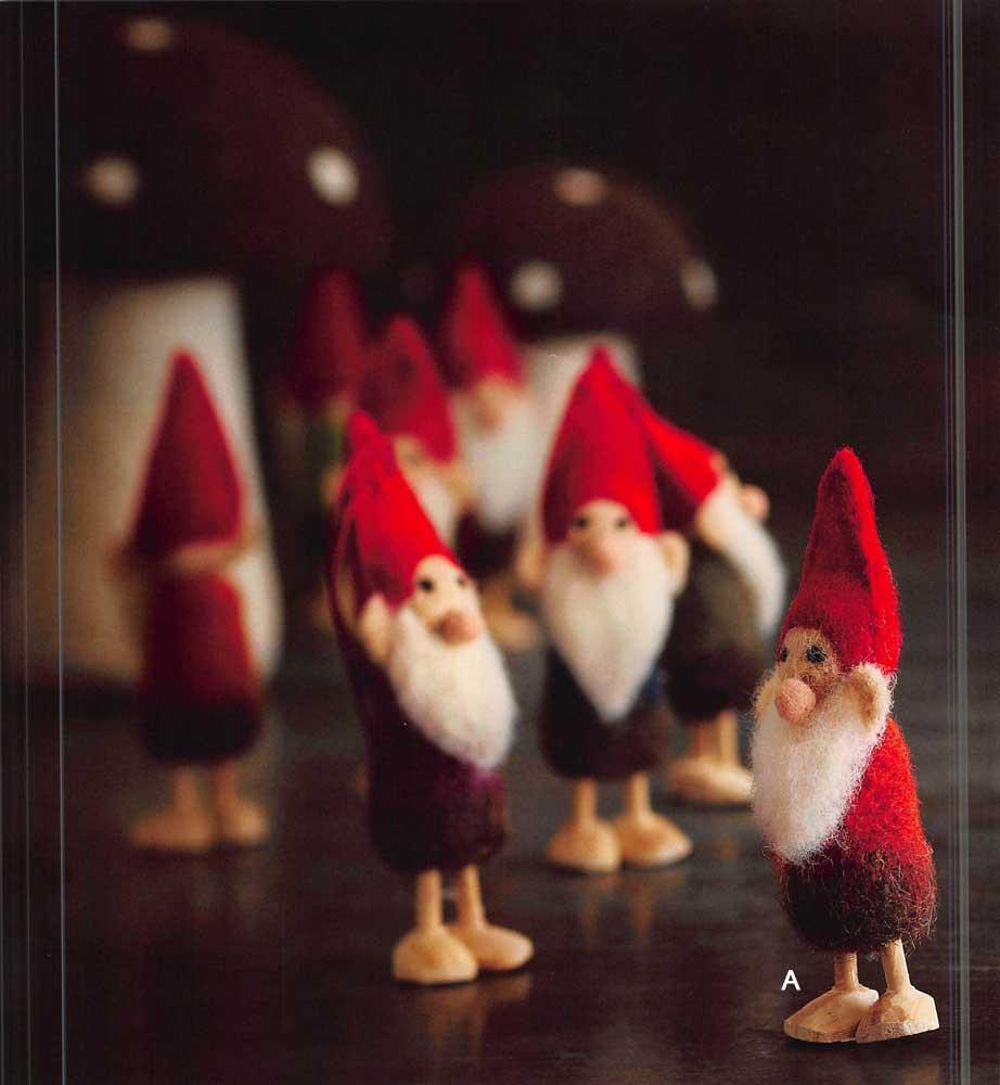 Roost Wooly Gnome Ornaments - Set Of 12