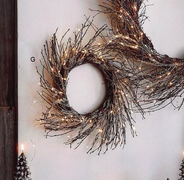 Roost Lighted Icy Wreaths & Branches