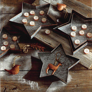 Roost Galisteo Copper Edge Star Trays - Set Of 5