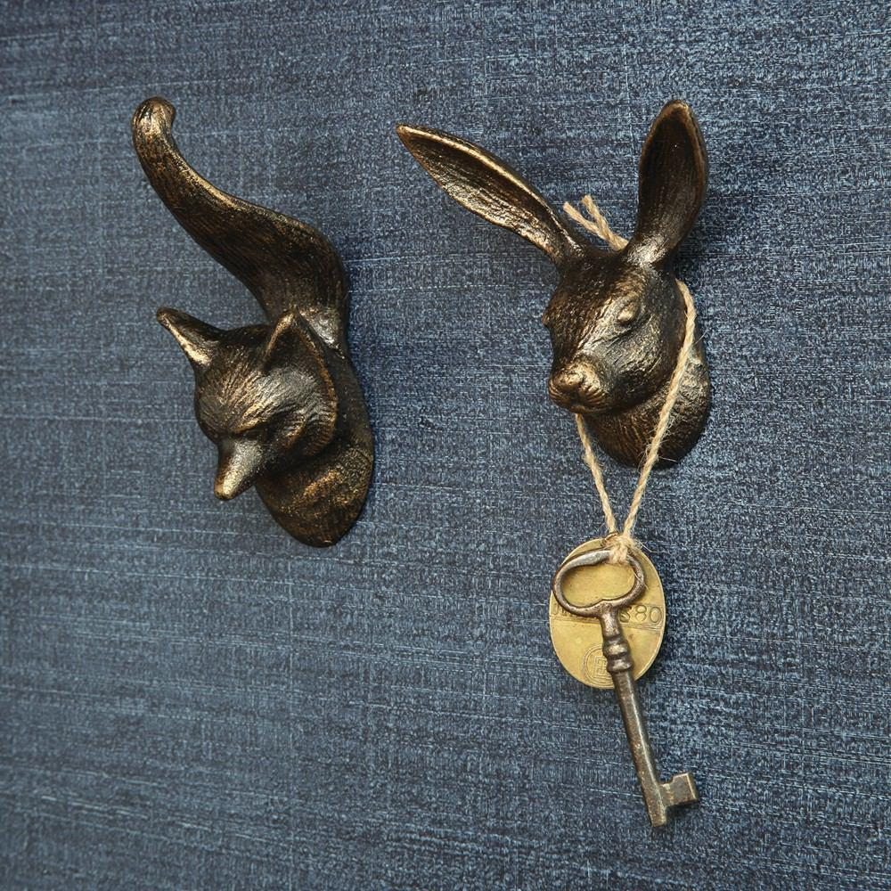 HomArt Hare Wall Hook - Cast Iron - Set of 4