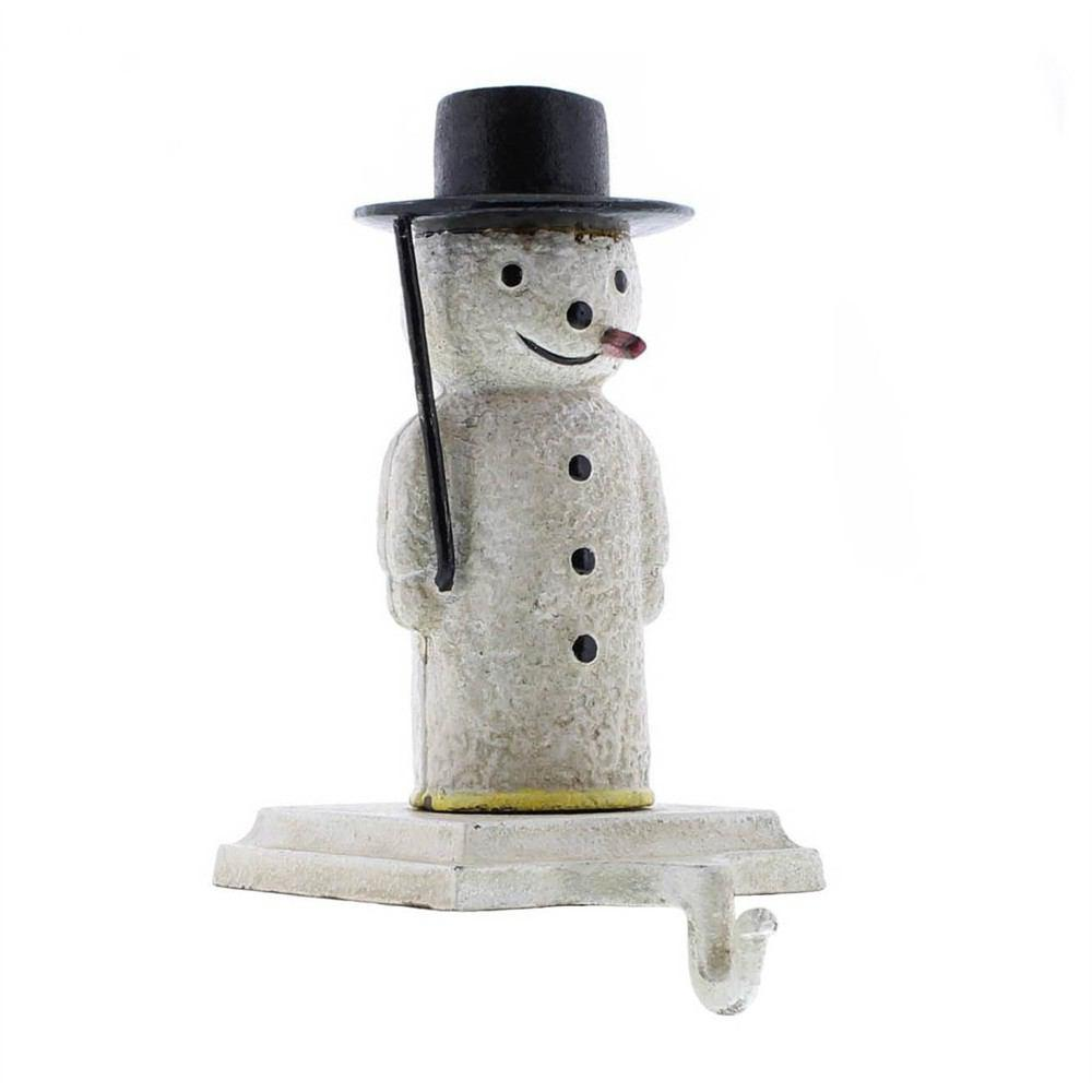 HomArt Snowman Stocking Holder - Cast Iron - Set of 4