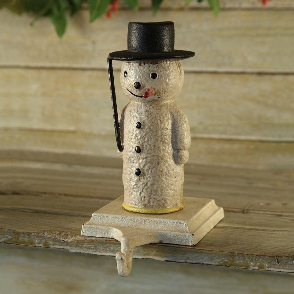 HomArt Snowman Stocking Holder - Cast Iron - Set of 4 - Feature Image