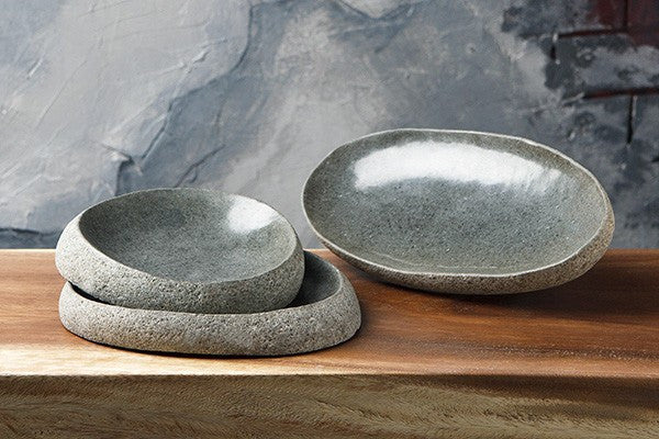 River Stone Dishes Set of 3