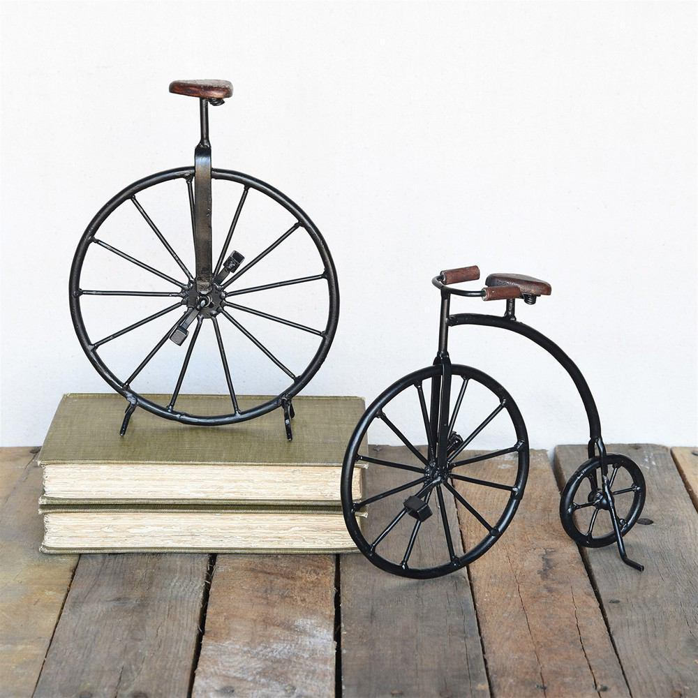 HomArt Iron and Wood High Wheeler Bicycle - Set of 2 - Feature Image