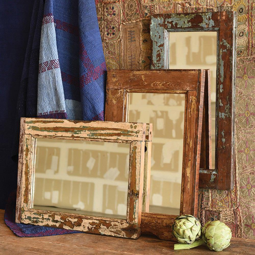 HomArt Window Frame Mirror - Salvaged Wood - Feature Image