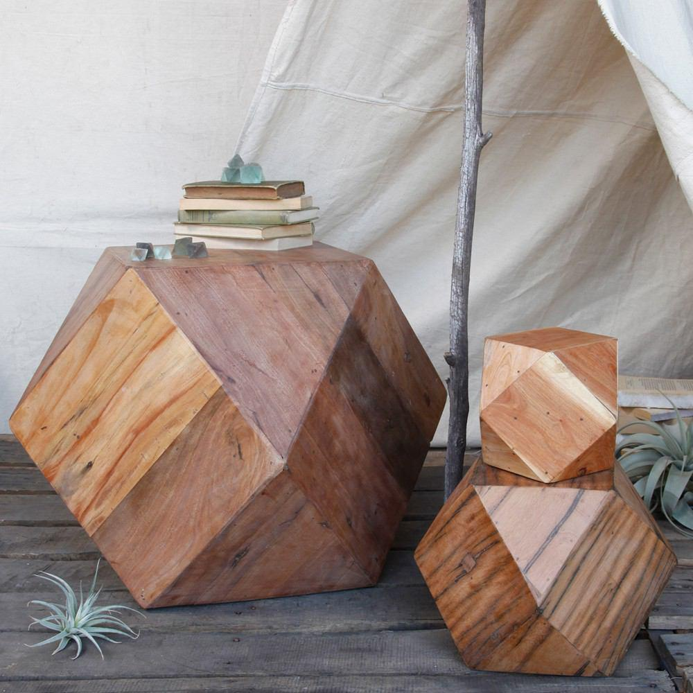 HomArt Icosahedron Wood Block - Natural