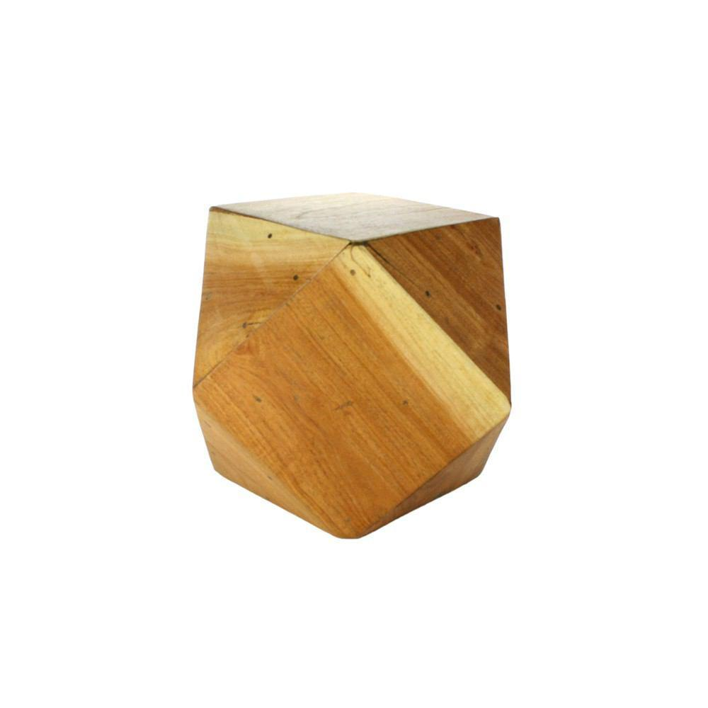 HomArt Icosahedron Wood Block - Natural - Small