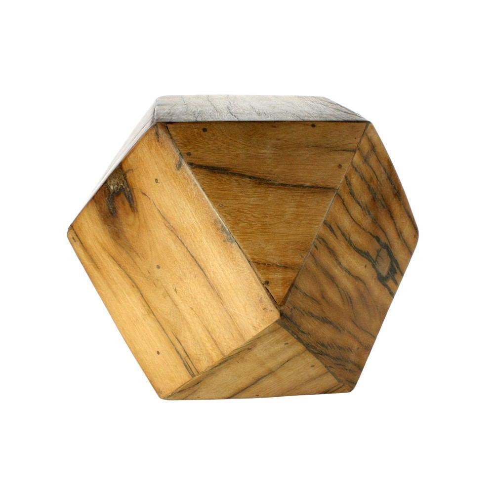 HomArt Icosahedron Wood Block - Natural - Med