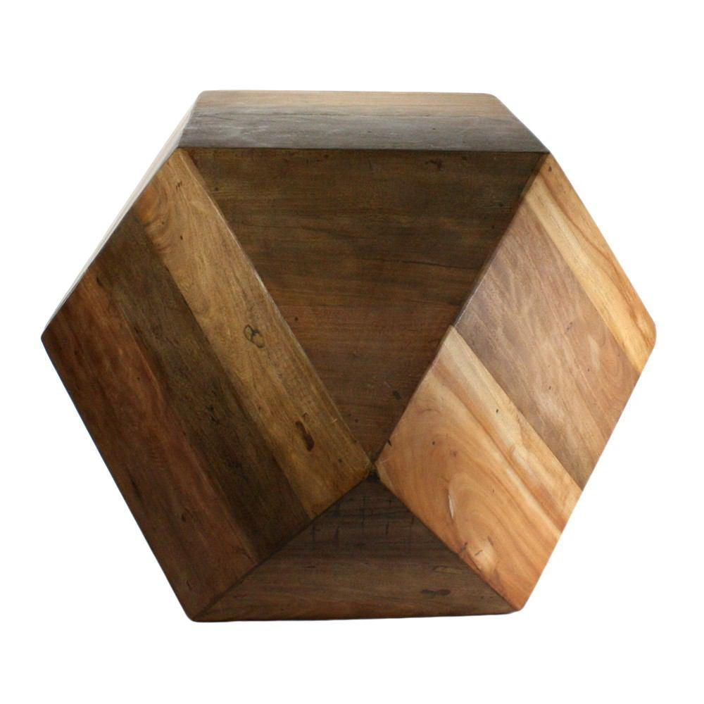 HomArt Icosahedron Wood Block - Natural - Feature Image