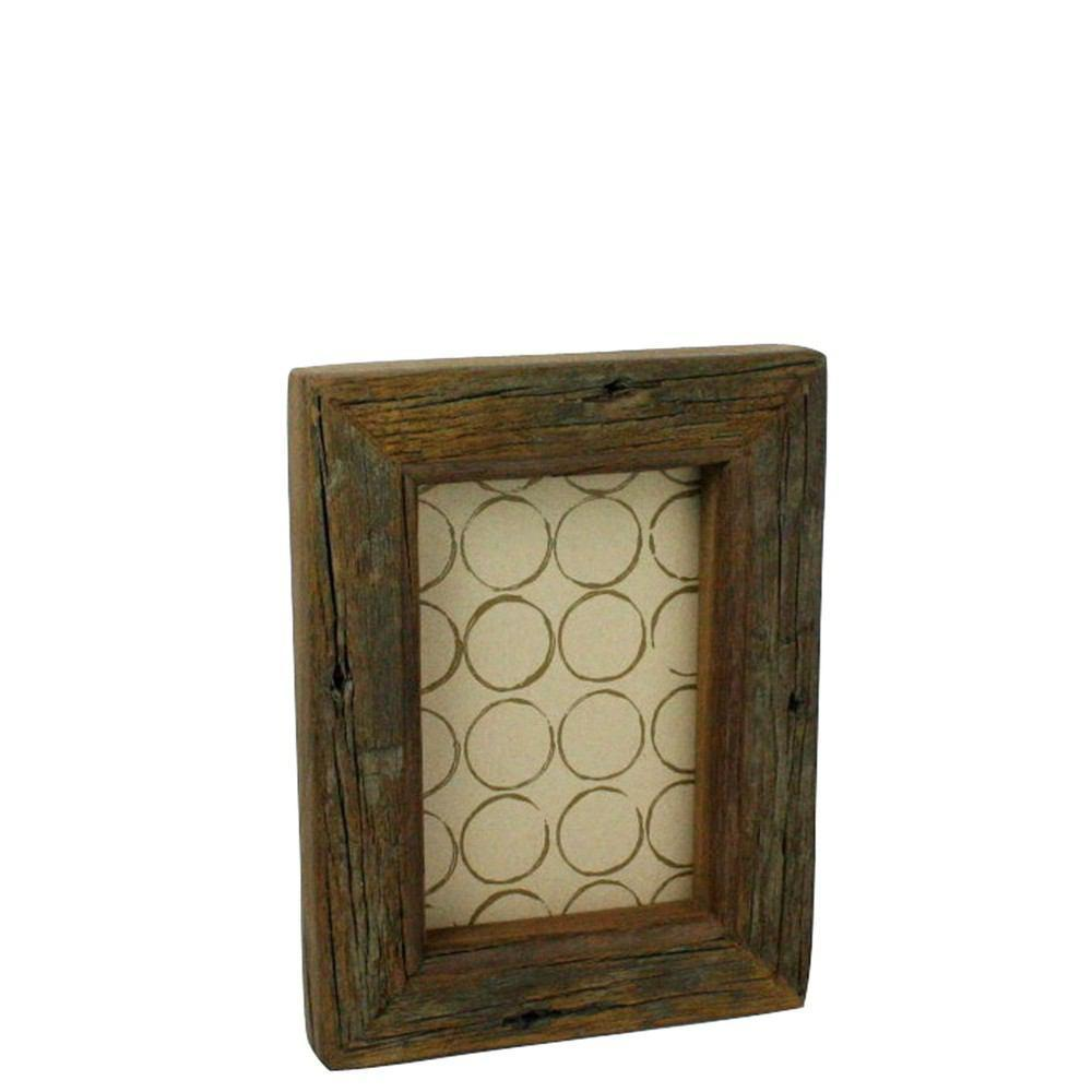 HomArt Reclaimed Wood Picture Frame - 4x6