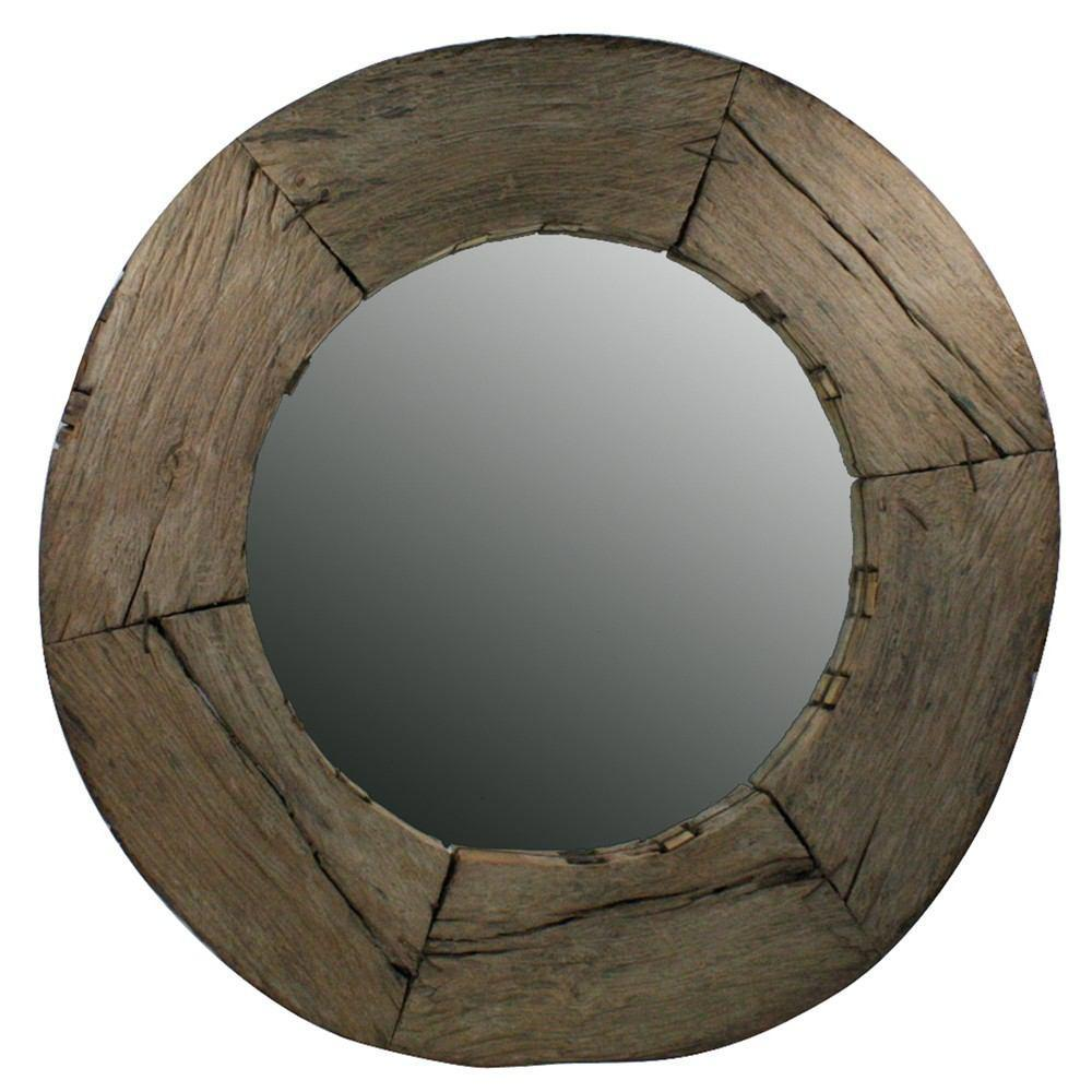 HomArt Nomad Reclaimed Wood Wheel Mirror - Natural - 2665-0 - Feature Image