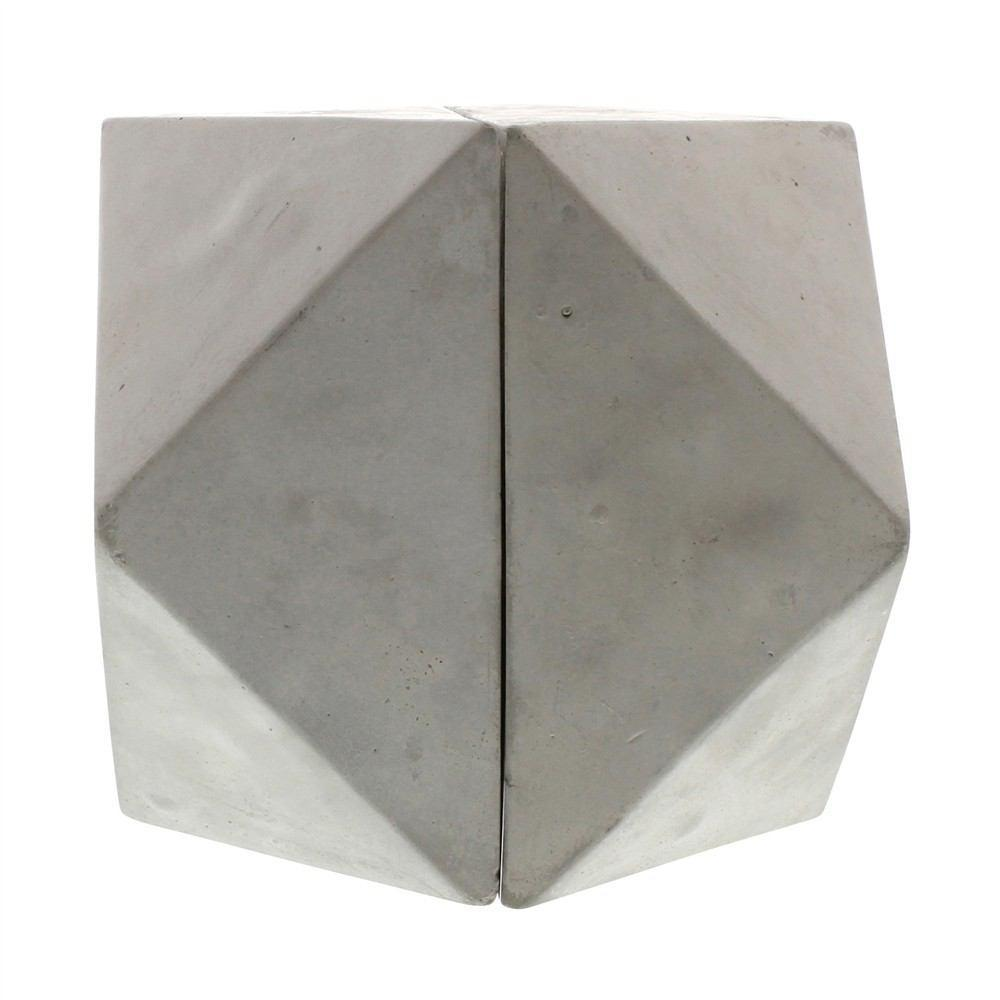 HomArt Geometric Cement Bookends - Cubeoctahedron