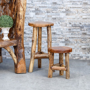 Habini Teak Branch Stool
