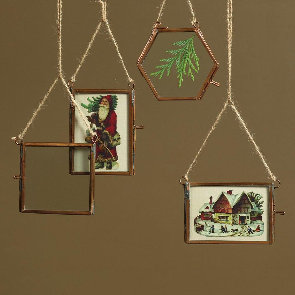 HomArt Cornell Ornament Frames - Set of 12 - 3 Each Style - Copper - Feature Image