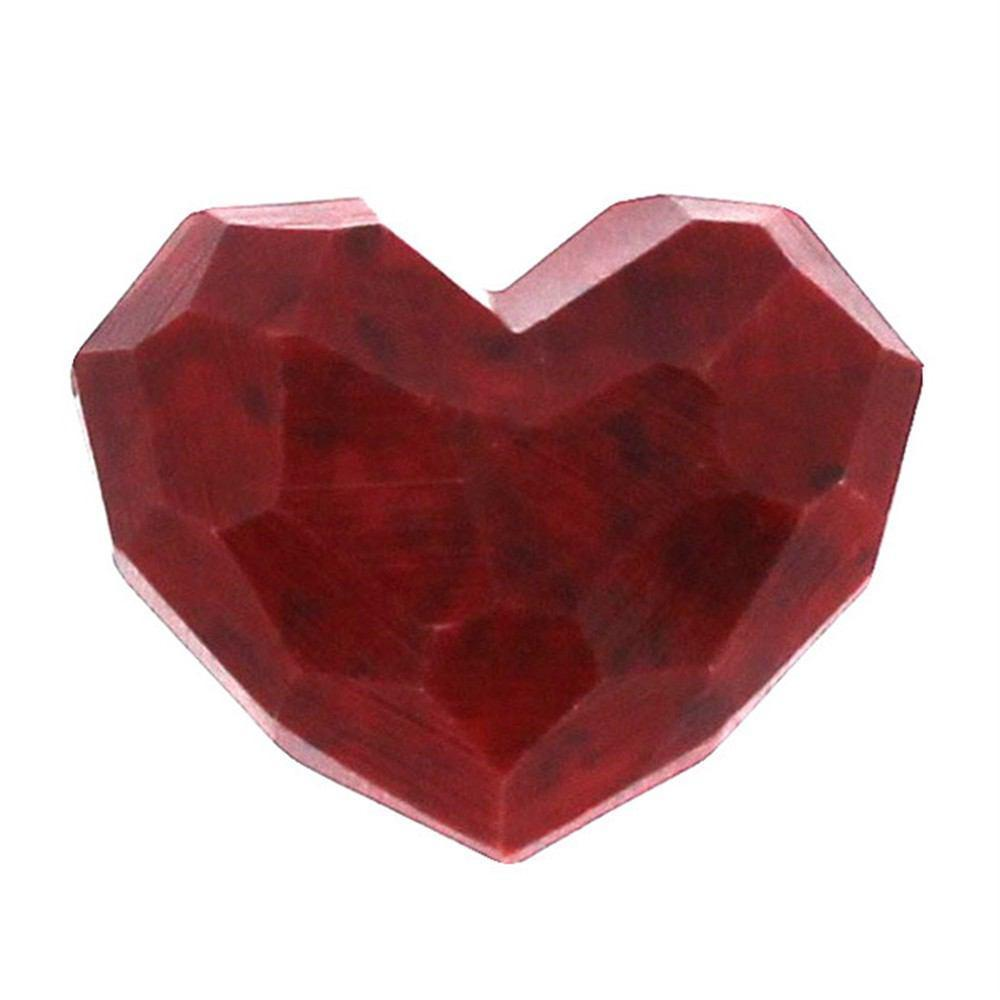 HomArt Faceted Soapstone Hearts - Red