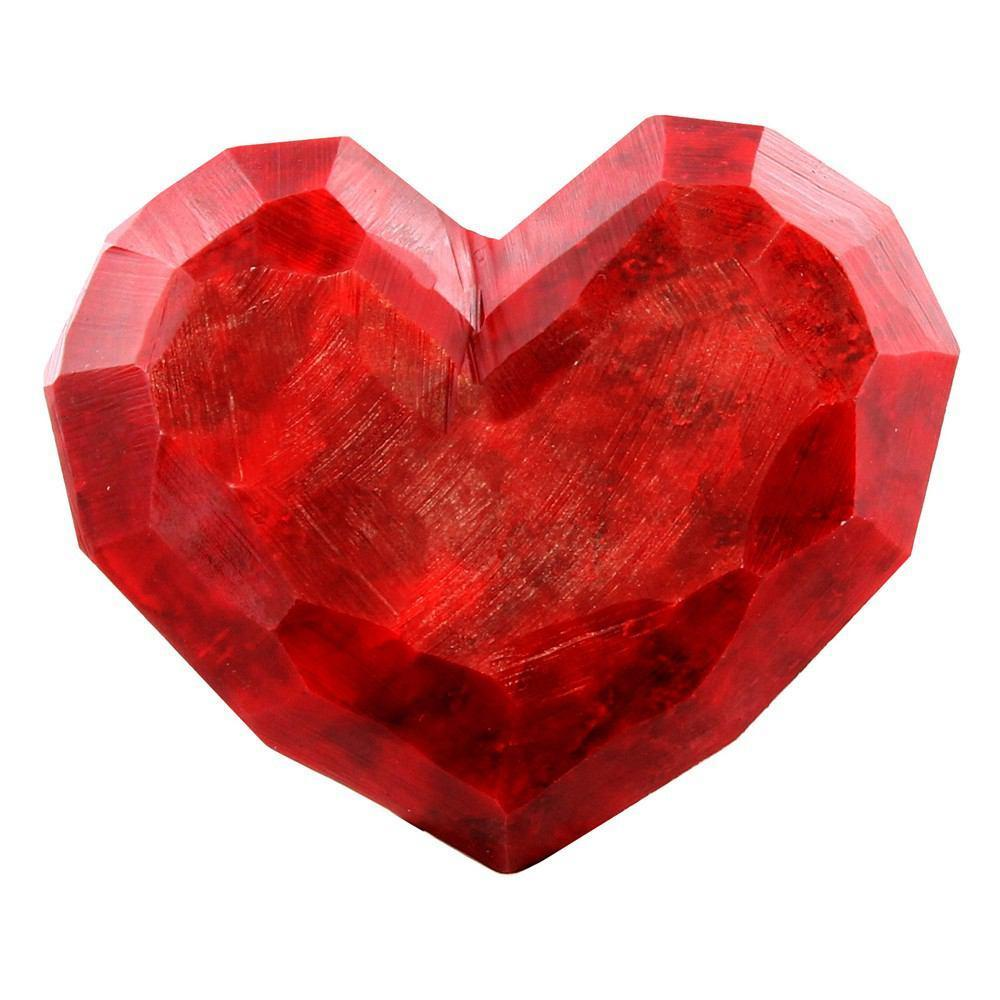 HomArt Faceted Soapstone Hearts - Red - Feature Image