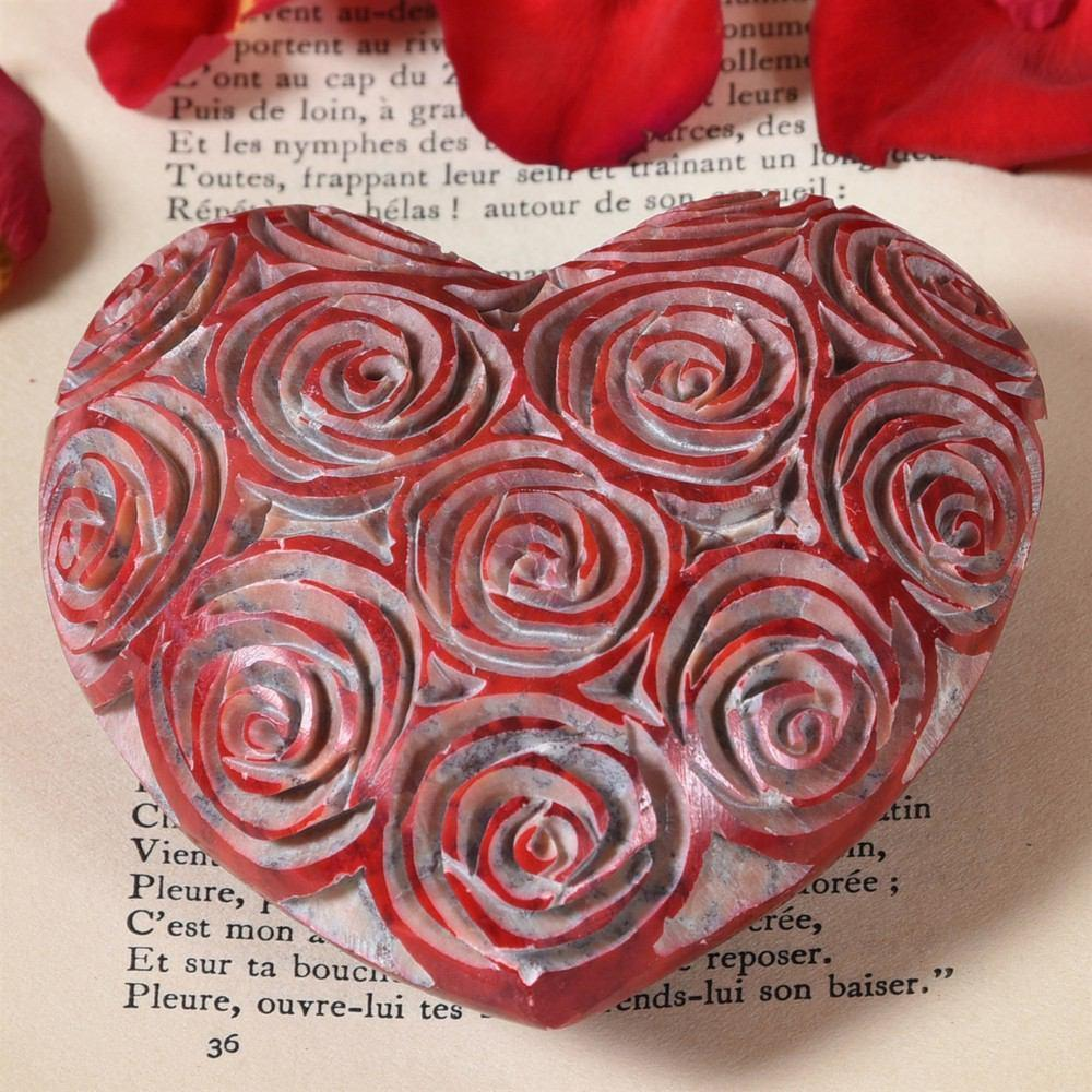 HomArt Soapstone Heart - Set of 6