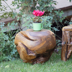 Habini Teak Ball Stool