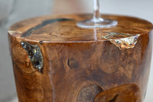 Habini Teak Resin Stool/Table - Round