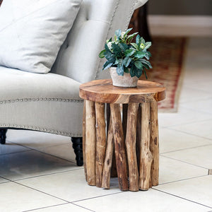 Gathered Teak Branch Table