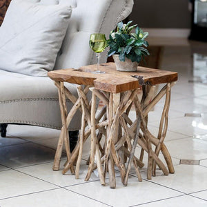 Teak Branched-Out Table - Square