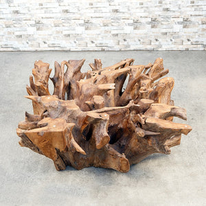 Habini Teak Root Square Coffee Table (No Glass)