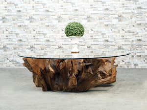 Habini Teak Root Square Coffee Table