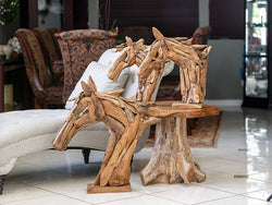 Harini Driftwood Horse Head Set of 2