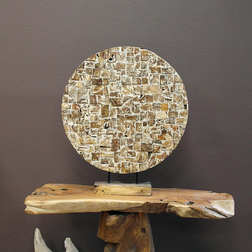 Recycled Teak Mosaic Stand