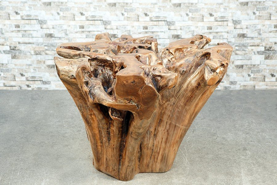 Habini Teak Root Dining Table - No glass top