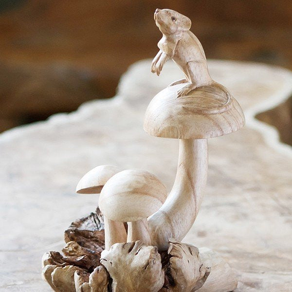 Mouse on Mushrooms Set of 6
