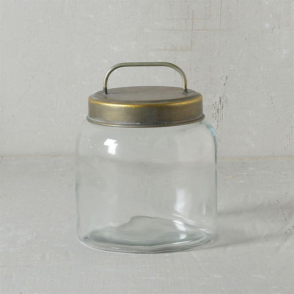 HomArt Archer Canister with Metal Lid - Set of 2
