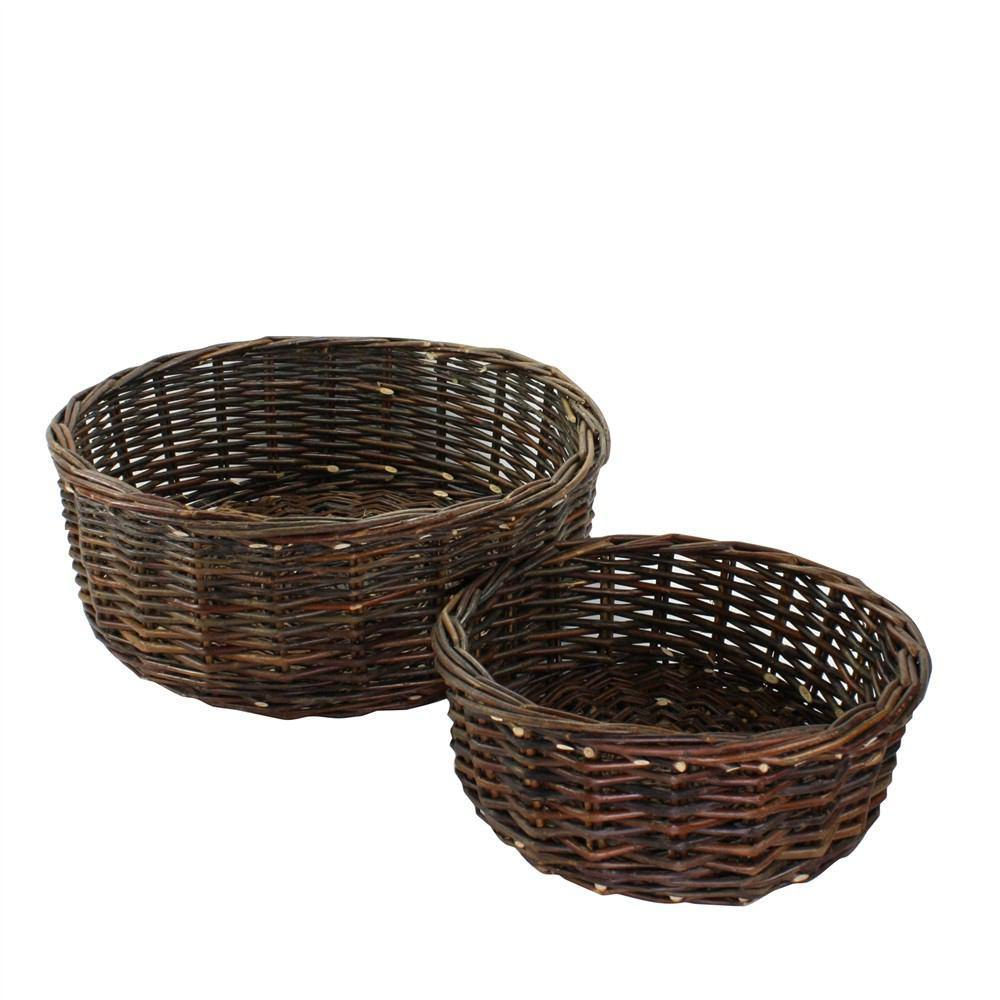HomArt Willow Baskets - Set of 2 - Natural - Feature Image