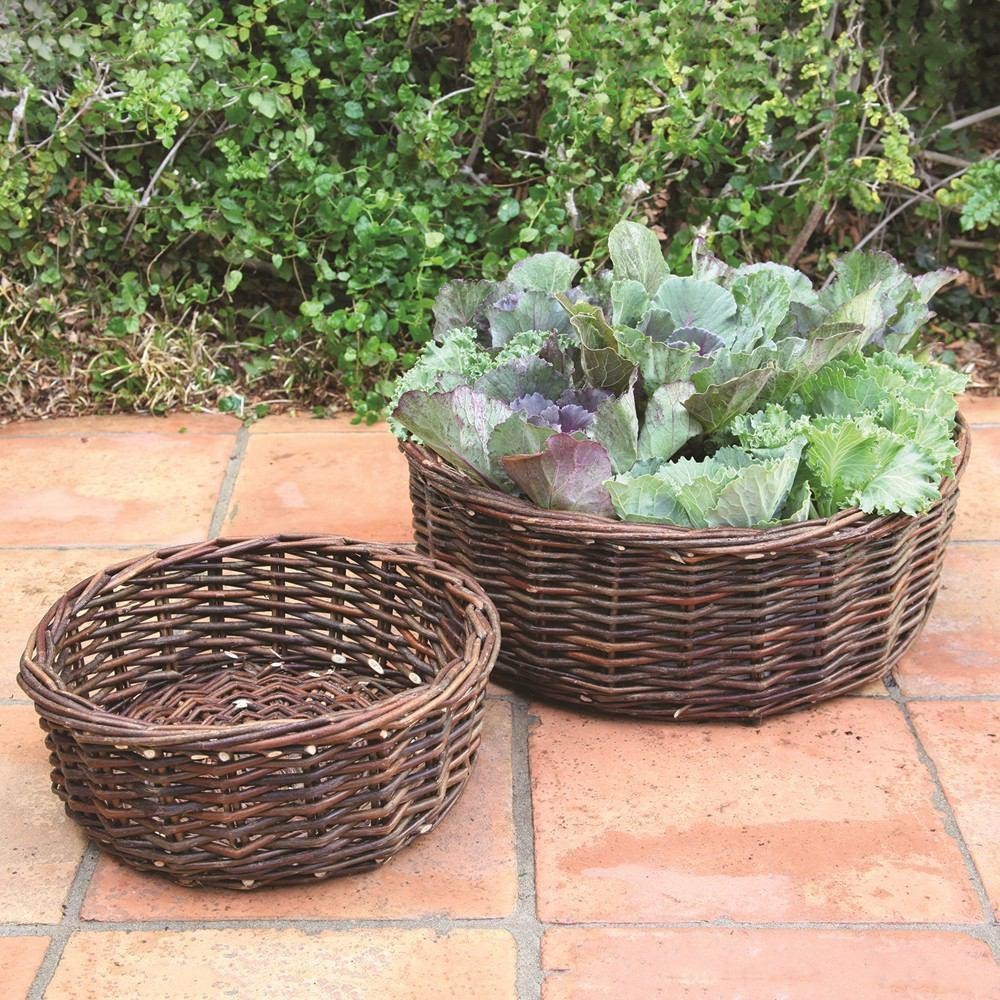 HomArt Willow Baskets - Set of 2 - Natural