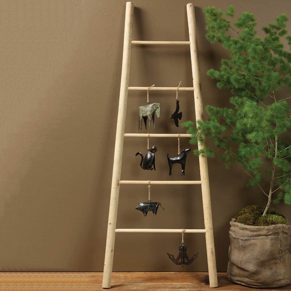 HomArt Decorative Wood Ladder - Natural - Set of 4 - Feature Image