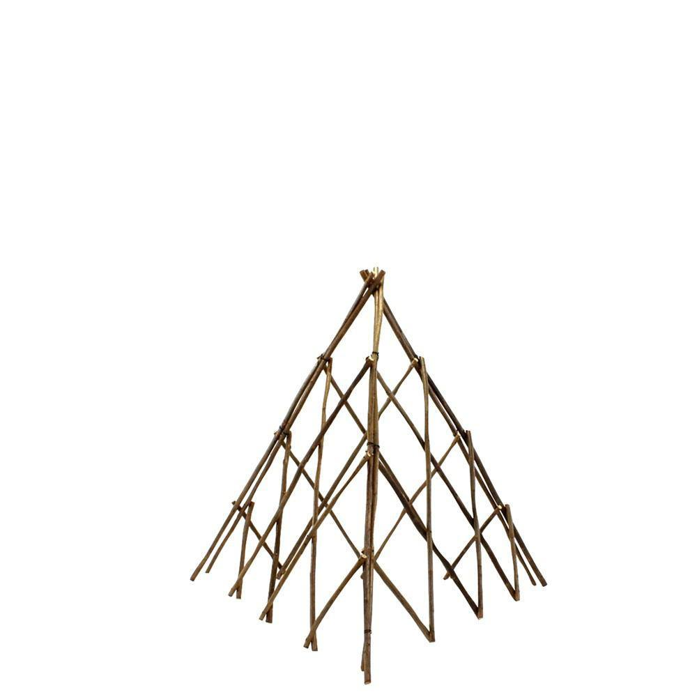HomArt Pyramid Twig Trellis - Natural - Small