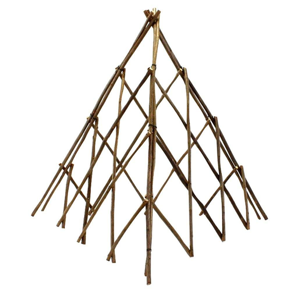 HomArt Pyramid Twig Trellis - Natural - Set of 4 - Feature Image