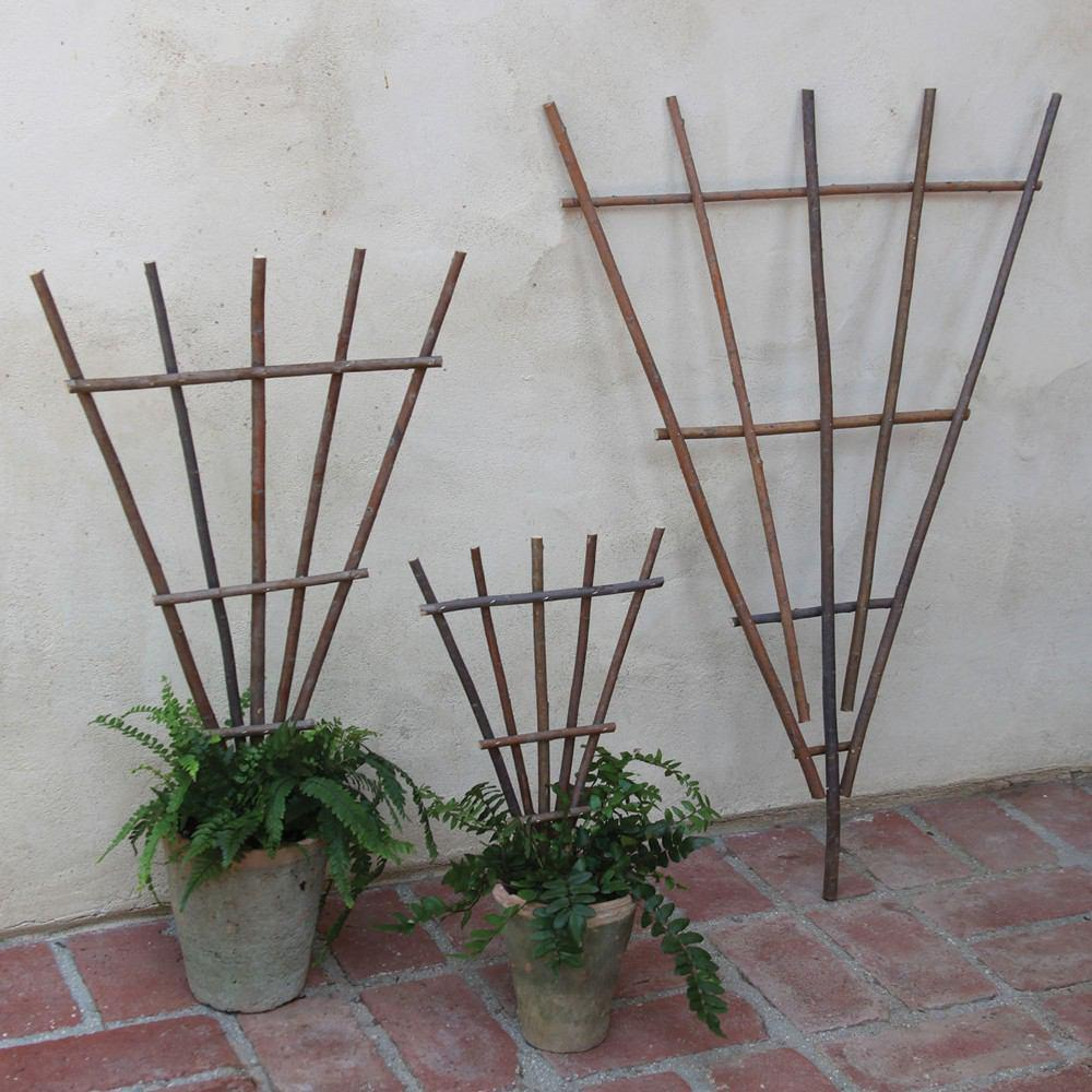 HomArt Staked Twig Trellis - Natural - Set of 6