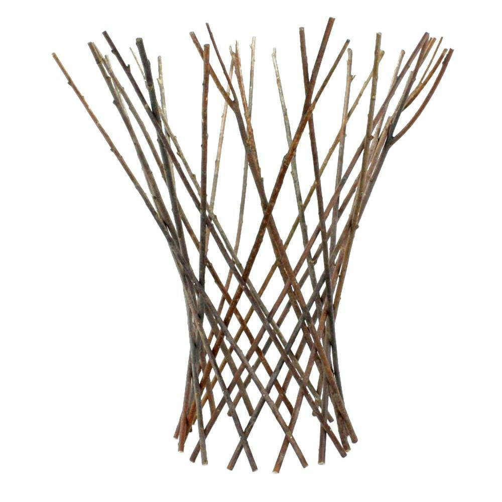 HomArt Flared Twig Trellis - Natural - Set of 4 - Feature Image