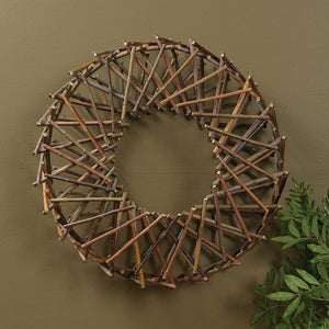 HomArt Expanding Willow Wreath - Natural - Set of 4