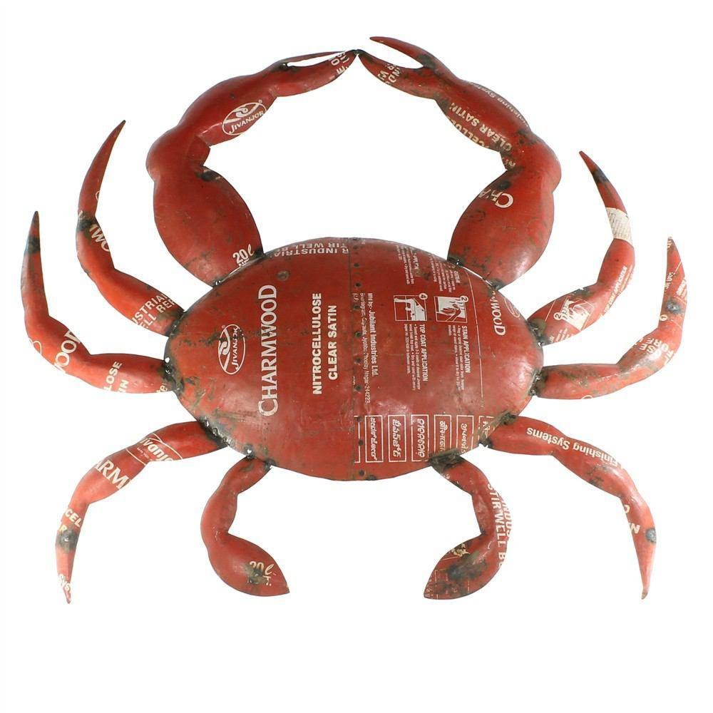 HomArt Reclaimed Metal - Wall Mount Object - Crab