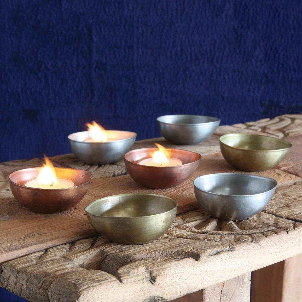 HomArt Alma Metal Tealight Holder - Boxed Set of 24