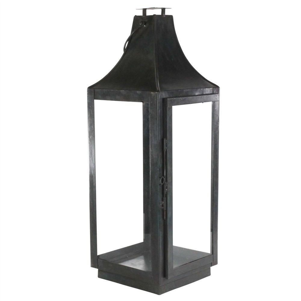 HomArt Cole Metal Lantern - Black Waxed - Small