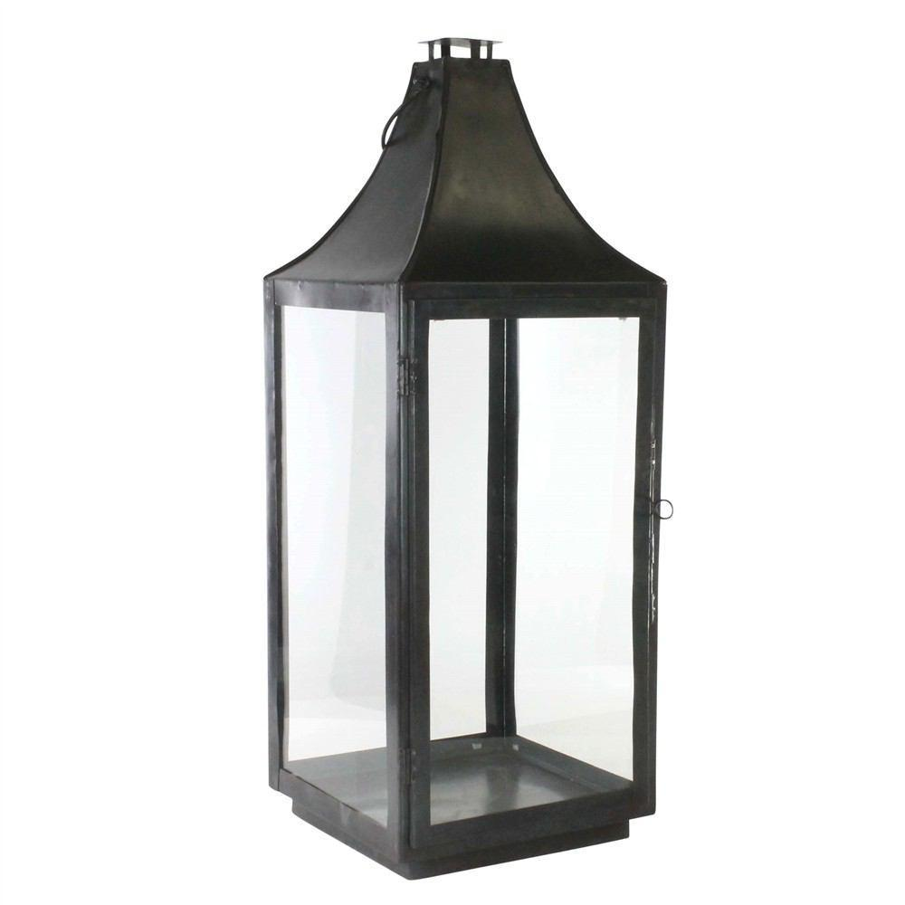 HomArt Cole Metal Lantern - Black Waxed - Feature Image