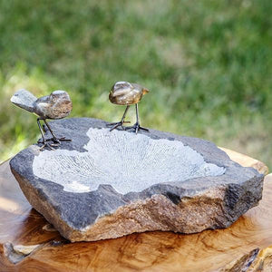 Spring Stone Bird Bath w/ 3 Birds